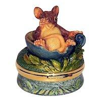 Limoge Mouse Trinket Box