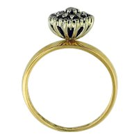 14K Solid Yellow Gold Diamond Ring