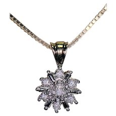 14K Necklace w/ Small Diamond Pendant