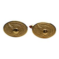 Pair of West Point 14K Gold Overlay Cuff Links by Krementz