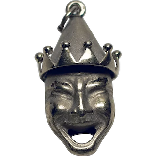 14K Yellow Gold Comedy / Tragedy Pendant