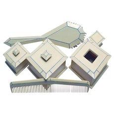 Art Deco Pyralin Dresser Set