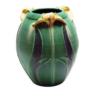 Ephraim Pottery Japanese Lily Vase