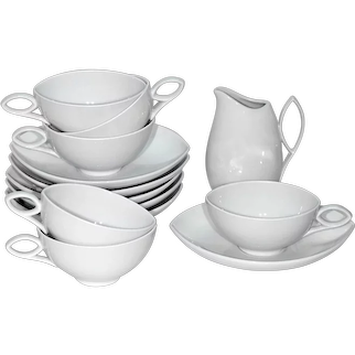 Rosenthal Oblong Pure White China Luncheon Set