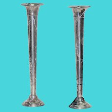 Pair of Sterling Bud Vases .. Mint Condition