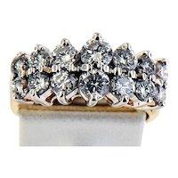 14K Yellow Gold Two Carat Diamond Ring