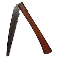 Meiji Period Signed Japanese Folding Locking Pruning Bonsai Saw