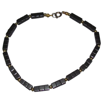 Lots Of Bling Without The $ting:  Hematite Anklet