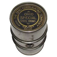 Ohio Corrugating Company Advertising Salesman's Sample Drum Paperweight