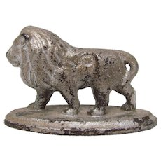 19th C. Cast Iron Lion Paperweight