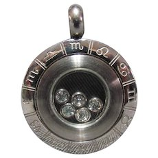 Lots Of Bling Without The $ting:  Stainless Steel Zodiac Pendant