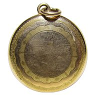 Antique Gold Filled Locket From An Old Locked Away Estate Collection