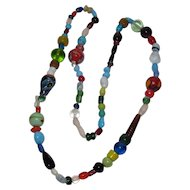 Super Colorful Festive Glass Bead Necklace