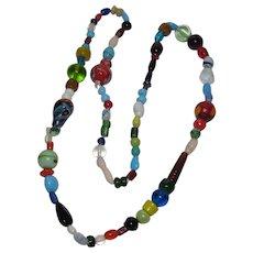 Super Colorful Festive Glass Bead Necklace