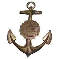 Vintage Gold Tone Washington, D.C. Souvenir Anchor Medal