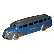 1930s Tootsietoy Greyhound Bus Deluxe #1045 Nice