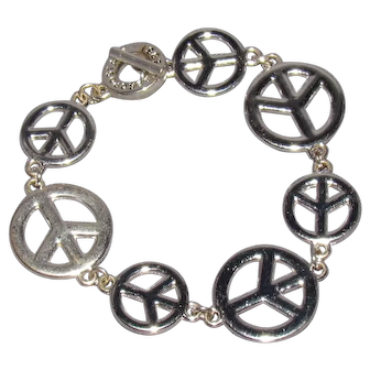 Lots Of Bling Without The $ting: Aeropostale Peace Bracelet