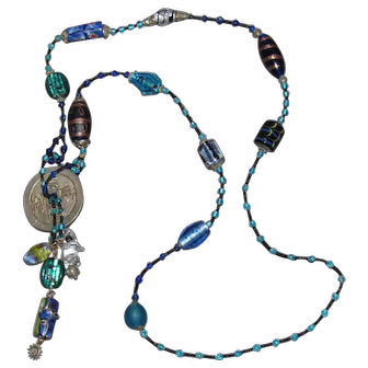 Lots Of Bling Without The $ting: Oriental Glass Bead Necklace