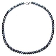 Pearl Bling Without The $ting: Freshwater Pearl & Sterling Necklace