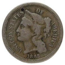 1865 US Silver Nickel
