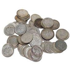 65 US Roosevelt Silver Dimes