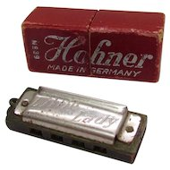 Vintage Hohner No. 39 Little Lady Harmonica & Original Box Germany