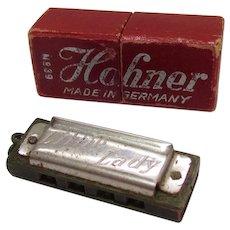 Vintage Hohner No. 39 Little Lady Harmonica & Original Box Germany