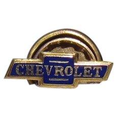 1940s Chevrolet Enameled Lapel Pin