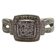Lots of Bling Without The $ting:  Sterling & Diamond Ring