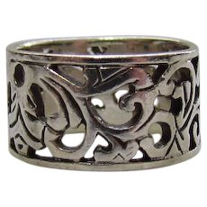 Lots of Bling Without The $ting:  Sterling Openwork Ring (Band)