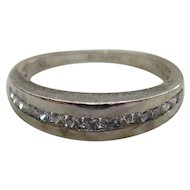 Lots of Bling Without The $ting:  Sterling & CZ Band (Ring)