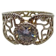 Lots of Bling Without The $ting:  Sterling & CZ Openwork Ring