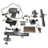 Peerless / Marshall Watchmakers / Jewelers Lathe Complete & Extra Parts