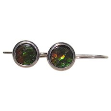 Silver Bling Without The $ting:  Vintage Sterling & Ammolite Earrings