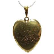 This Locket Has It All: 18K Gold Victorian Heart Locket
