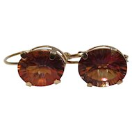 Gold Bling Without The $ting: Vintage 14K Gold Mystic Topaz Earrings