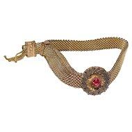 No $ting Estate Bling:  Antique Gold Filled Mesh Bracelet