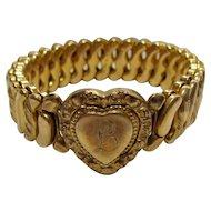 No $ting Estate Bling:  Antique Gold Filled Expansion Bracelet
