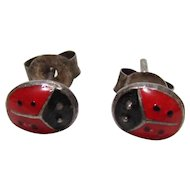 Sterling Bling Without The $ting: Vintage Sterling Silver Ladybug Earrings