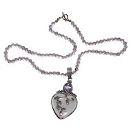 Sterling Bling Without The $ting: Vintage Sterling Silver & Amethyst Necklace