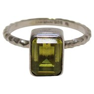 Sterling Bling Without The $ting: Vintage Sterling Silver Lori Bonn Green Stone Ring