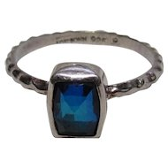 Sterling Bling Without The $ting: Vintage Sterling Silver Lori Bonn Blue Stone Ring