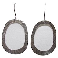 Sterling Bling Without The $ting: Vintage Sterling Silver Hammered Earrings