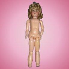 """Armand Marseille 23-Inch 390 """"A 6 M"""" Bisque Head Doll"""