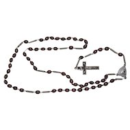 † c1930s Souvenir Rosary With Stanhope: Basilica of the Visitation of Our Lady, Werl, Germany †