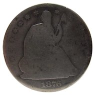 1876 Centennial US Seated Liberty Silver Half Dollar