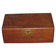Vintage Bud Wood Cigarette Box