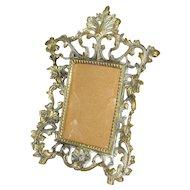 Vintage Brass Picture Frame