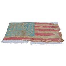 Historic Civil War Battle Scarred 34-Star 1861 US Flag With Provenance