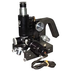 Old American Optical Printer's Gravure Roll Inspection Microscope 520025